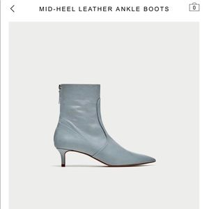Zara Leather Ankle Boot!!